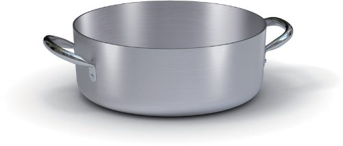 Ballarini Casseruola Bassa Professionale, Alluminio, Grigio, 40 cm