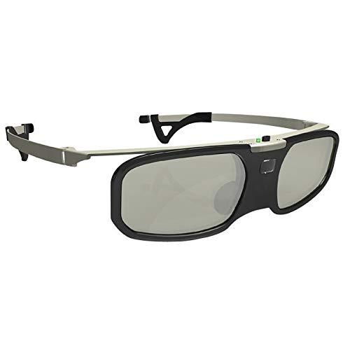 JSANSUI Occhiali 3D per la TV Bluetooth Attivo Clip dell'otturatore 3D Glasses + miopia, for Il proiettore di Samsung Sony W807C LG TV 3D EPSON TW5200 / 5210/5300/5350/2030 (Color : Nero)
