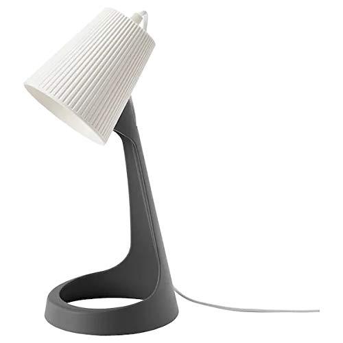 "Ikea SVALLET Work lamp, Dark Grey, White(Max.: 8.6 W Height: 35 cm (14"") Base Diameter: 16 cm (6"") Shade Diameter: 11 cm (4"") Cord Length: 200 cm (6 ' 7""))"