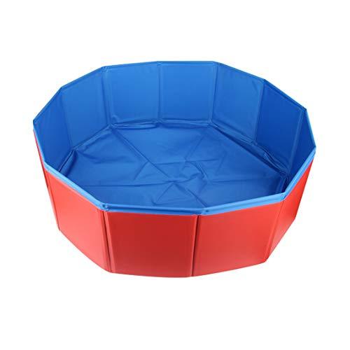 Piscina plegable para perros, cachorros, gatos, mascotas, niños, balones de agua, piscina,...