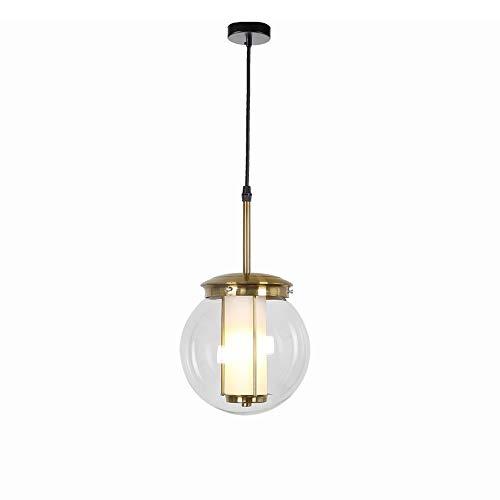 Lyuez Glaslachter transparant en eenvoudig moderne creatieve café-raamdecoratie restaurant energiebesparende kroonluchter verstelbare plafondlamp