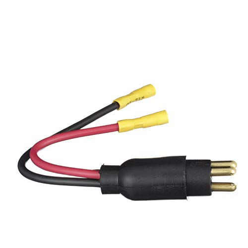 SEACHOICE 13751 Trolling Motor Plug Straight Male 12V