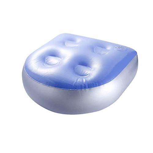 1 Stück Spa Booster Kissen Aufblasbares Whirlpool-Sitzkissen mit Saugnäpfen für Badewanne Spa Whirlpool Baden