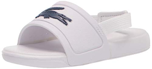 Lacoste Kid's L.30 Slide Sandals, WHT/DK BLU, 5 US Unisex Toddler