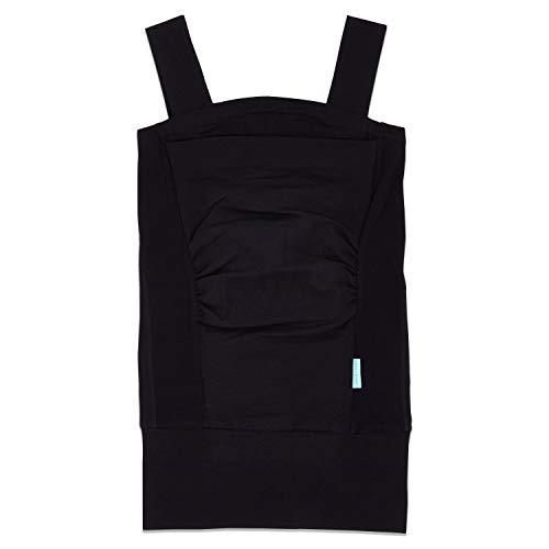 aden + anais - Top à Peau à Peau pour Porter Bébé avec une Poche intégrée, inclus un support de soutien, conçu en Coton Doux et Élasthanne, Adapté pour les Nouveaux-nés, Taille S, Noir