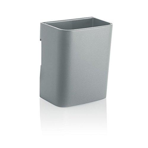 SIGEL GL811 portapenne a bicchiere, S, grigio chiaro, per lavagne magnetiche di vetro