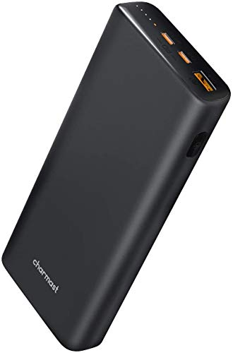 Charmast 65W Power Bank 23800mAh,USB C Power Delivery Battery Pack Portable Charger Power Pack Compatible with Most Laptops Dell XPS,Lenovo,iPad,iPhone 12/Pro/Pro Max,Samsung,Huawei etc.
