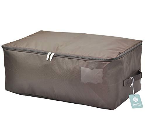 65 * 38 * 28cm, sacchetto dell'imballaggio dell'organizzatore di immagazzinaggio della camera da letto respirabile, immagazzinaggio indumento stagionale impermeabile per il guardaroba, caffè