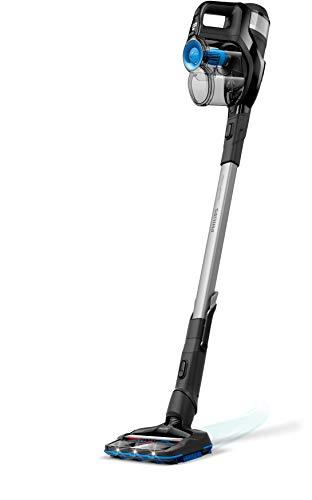 Philips Aspirazione FC6802/01 SpeedPro Max Scopa Elettrica Senza Fili, Spazzola con Aspirazione a 360°, 35 Minuti di Autonomia, Accessori Integrati, Nero