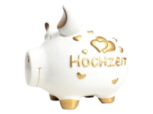 KCG Keramik Sparschwein HOCHZEIT ca. 15cm x 17cm