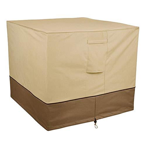 Duokon Outdoor Vierkante Airconditioner Cover Anti-Stof Anti-Sneeuw Waterdicht Zonwerend voor Thuis Zilver Coating Oxford Doek