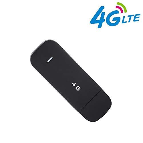 Tosuny Mobil WiFi Router, drahtloser Netzwerk Hotspot, 4G LTE WLAN Router, WiFi Dongle High-Speed 100 MBit/s für Windows 2000/2003 / XP/Vista / 7/10, für Mac OS 10.4 oder höher(ohne WiFi)
