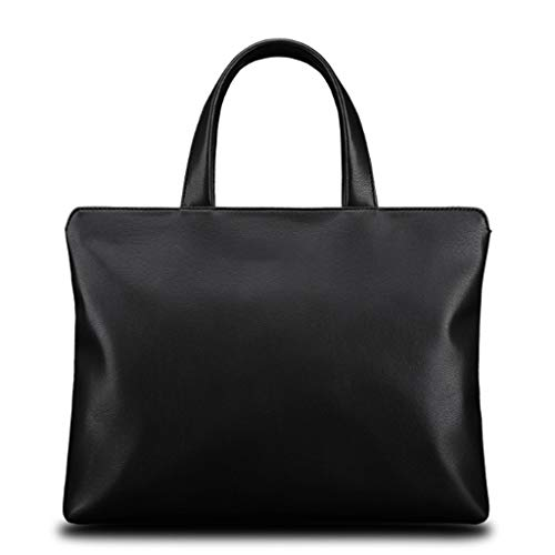 LICHUAN Laptop Bag Waterproof Lightweight PU Computer Tote Bag Business Office Briefcase Large Capacity Handbag Shoulder Bag