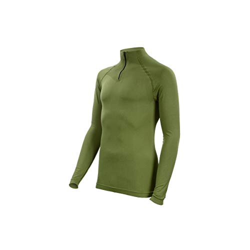 SUMMIT OUTDOOR Tee-Shirt Technical Line Col Mao Vert Od
