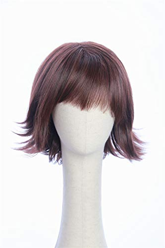 Cosplaywigscom: Dora Wig inspired by 2019 Movie Dora and the Lost City of Gold Halloween Costume Cosplay Natural Brown Short Straight Hair with Bangs for (Adults)