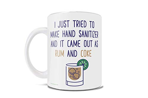 Rum and Coke Hand Sanitizer – Quarantine - 2020 – Funny Coffee or Tea Mug – Perfect for gifting or collecting – by Trend Setters Ltd.