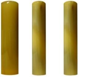 印鑑・はんこ 個人印3本セット 実印: オランダトビ 16.5mm 銀行印: オランダトビ 12.0mm 認印: オランダトビ 12.0mm 最高級牛皮袋セット