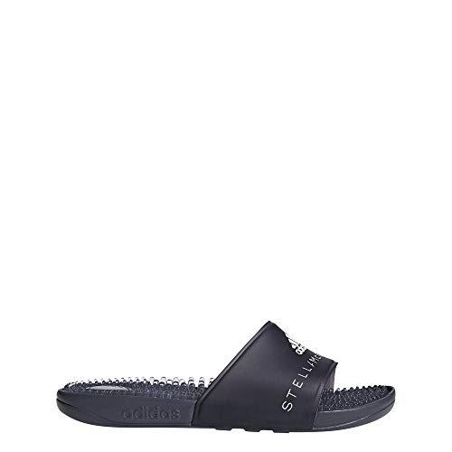 Adidas Adissage W, Zapatos de Playa y Piscina Mujer, Negro (Ngtste/Ngtste/Ftwbla 000), 42 EU