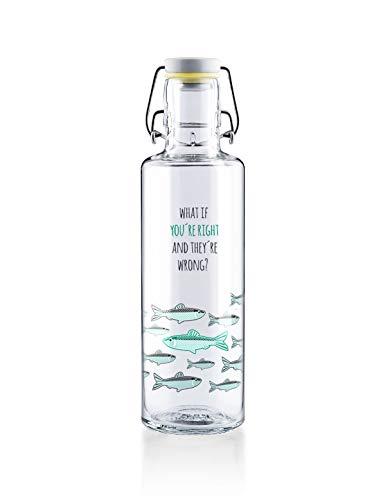 soulbottles 0,6l • You're Right • Trinkflasche aus Glas • vegan, plastikfrei, nachhaltig