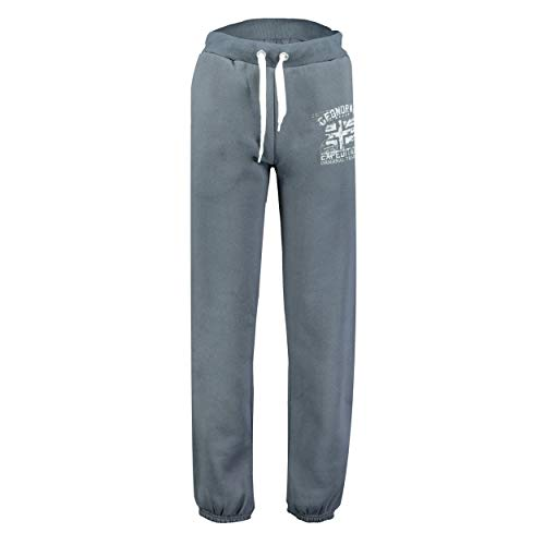 GEO NORWAY Pantalones de deporte para hombre de Múlu, pantalones de chándal para hombre, pantalones de chándal informales, pantalones cargo de algodón, poliéster gris oscuro M