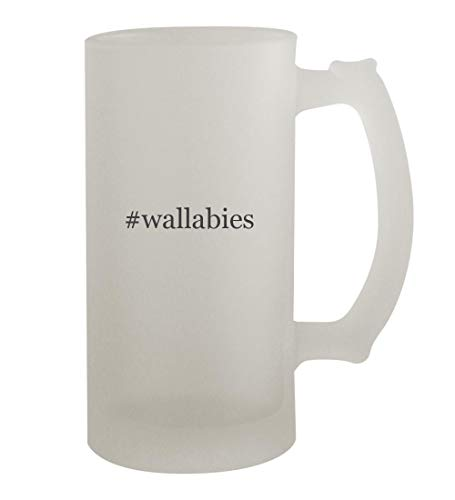 #wallabies - 16oz Hashtag Frosted Beer Mug Stein, Frosted