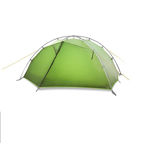 Tent Ultralight Camping Tent 2 Person Easy Set Up Double Layer Waterproof 3 Season Tent for Family Hiking Cycling Shelters (Color : Green)