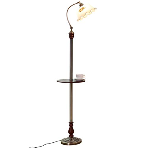Staande lamp Republic of China Retro woonkamer slaapkamer verticale nachttafellamp decoratie tuin hout glas salontafel lamp
