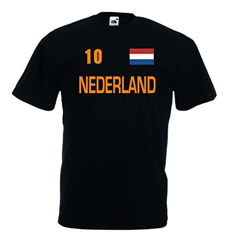 World-of-Shirt Nederland Herren T-Shirt Trikot Nr.10|XXXL