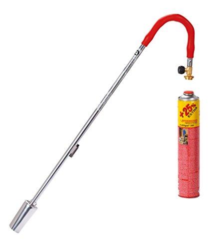 ROTHENBERGER Industrial Breitstrahlbrenner mit breiter Flamme inkl. 1x Gas Kartusche mit 25% mehr Inhalt für den Garten als Unkrautvernichter, Piezo-Zündung - 1000001250