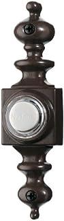 NuTone - Timbre de puerta iluminado con cable, n/a, bronce/negro