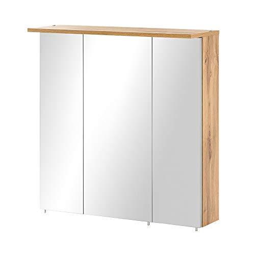 BODENMEISTER Badezimmer-Spiegel, Holzwerkstoff, Braun, 70 cm
