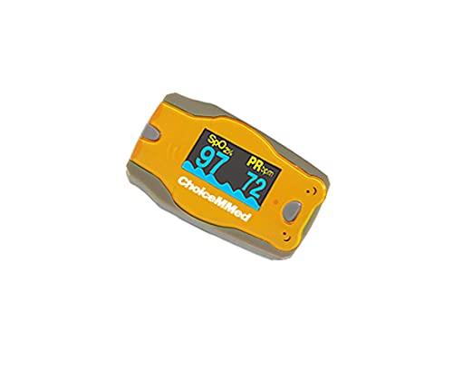 Oxímetro de pulso de dedo ChoiceMMed, MD300C52, oxímetro para medir la frecuencia cardíaca y la saturación de oxígeno (SpO2), dispositivo de monitoreo fisiológico simple, confiable y duradero