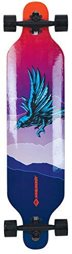 Schildkröt Longboard Freeride 41, Design: God Feather, 9-fach verleimtes Ahorn, Komplettboard mit Drop Through Achsenaufhängung, ABEC-11 Kugellager, 510691