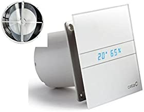 Allcata E 120 GTH Ventilator, badkamerventilator, timer/vochtregulering/hydrosensor led, display met terugslagventiel, kog...