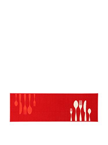 ABC Tappeto La Cucina Dinner Red 57 x 140 cm