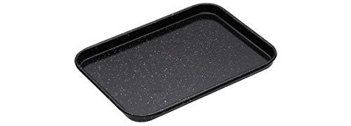 masterclass Professional Backblech, Emaille, Schwarz, 24 x 18 x 1.7 cm