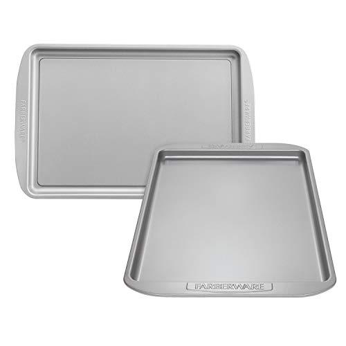 Farberware Nonstick Bakeware Set, Nonstick Cookie Sheets / Baking Sheets - 2 Piece, Gray