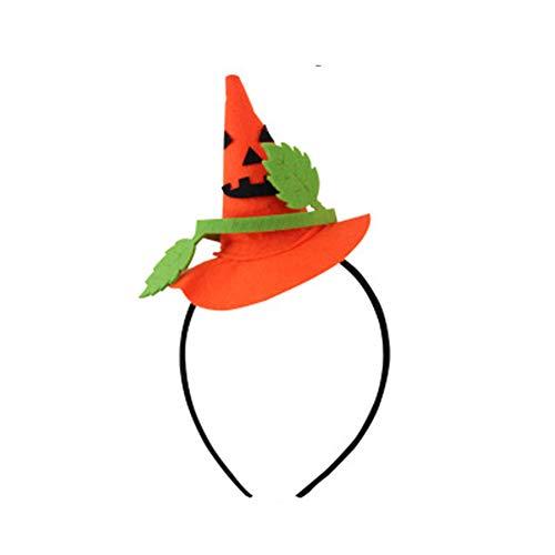 MYYXGS Halloween Stirnband Hexe Hut Haarband Partei liefert weibliche Kinder Halloween Requisiten kleine Hexe Stirnband Stirnband Hexe Kopf Hoop Hexe Haarschmuck 10 * 11 * 13cm