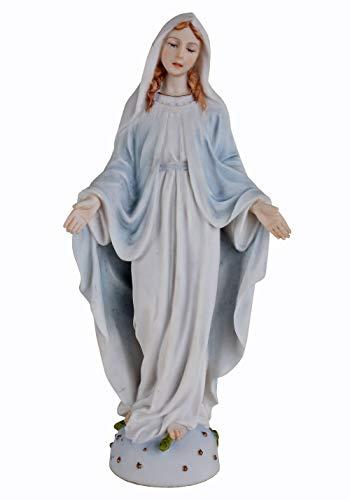 Madonna Figur auf Weltkugel & Schlange stehend Maria Jugendstil WU76252AA Palazzo Exklusiv
