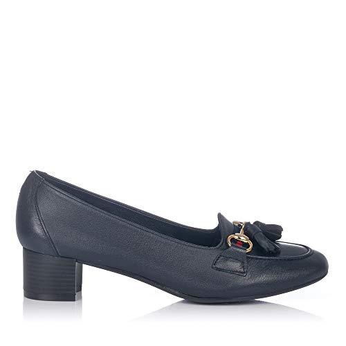 MARIA JAEN 3 Zapato BORLAS Tacon Medio Mujer Marino
