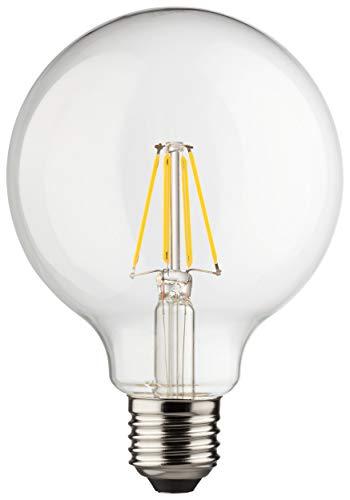 Müller-Licht Retro-LED Globeform E27 - mit innovativer Filament-Technologie - warmweißes Licht für eine angenehme Atmosphäre - Glas - 8 W ersetzt 75 W - klar