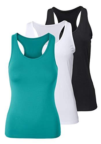 H HIAMIGOS Pack de 3 Camisetas Interior para Mujer