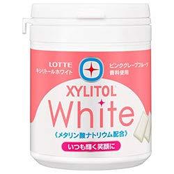 ロッテ キシリトールホワイト ピンクグレープフルーツ ファミリーボトル 143g×6個入×(2ケース)