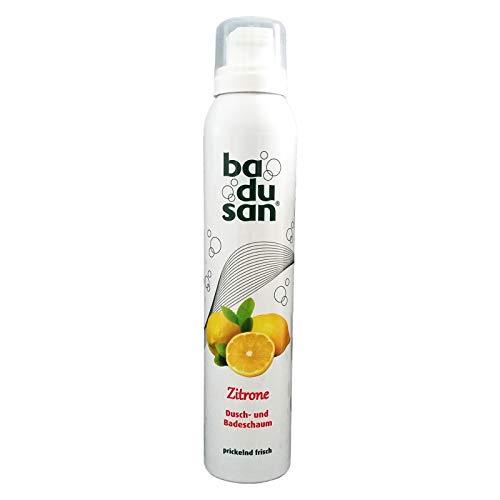 2er Pack Badusan Duschschaum Zitrone 2 x 200 ml, Badeschaum, Duschgel, Duschbad, pH-hautneutral