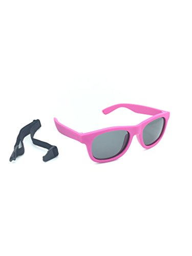 GlobalSource Kids/Baby Polarized Sunglasses With Strap 100% UVA & UVB (Pink), small to medium