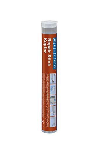 WEICON Repair Stick/Kupfer/115g/2 Komponenten Kleber/Epoxidharz Kleber/Spezialkleber/Für Reparatur an Rohren und Leitungen/Hitzebeständig