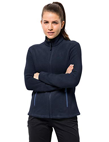 Jack Wolfskin Damen W Moonrise JKT Klassisch Robust Systemreißverschluss Outdoor Fleecejacke, Midnight blau, M