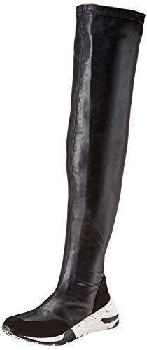 Yoki Damen Evita Kniehoher Stiefel, schwarz, 36.5 EU