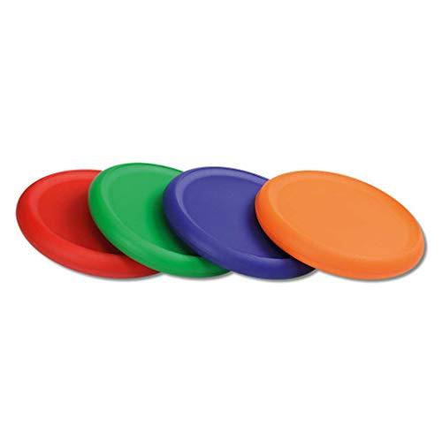 Wiemann Lehrmittel Frisbee aus Schaumstoff, Bunte Wurfscheibe, einzeln oder 4er Set (4 Stück, beschichtet)