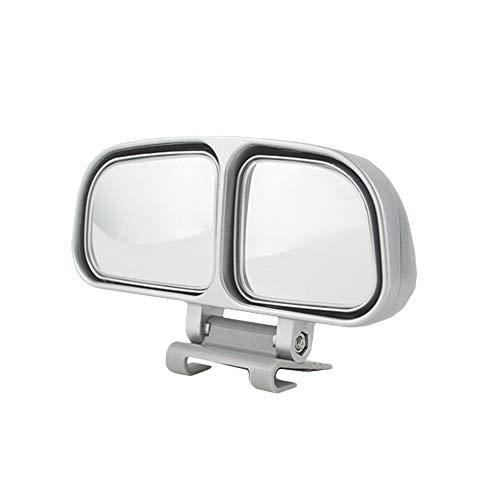 YSHtanj Achteraanzicht Spiegel Externe Decoratie 1Pc Universele Auto Voertuig Brede Hoek Achteraanzicht Blind Spot Vierkante Spiegel - Zwart Links# Silver-left#